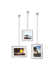 Umbra set van 3 fotolijstjes met ketting Fotochain metaal - Nikkel - 105522