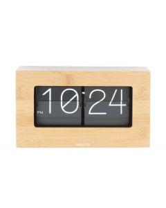 Karlsson staande klok Boxed Flip - Bamboe - 105627