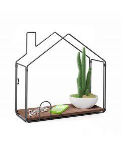 Balvi wandplank huis van metaal en hout - 105864