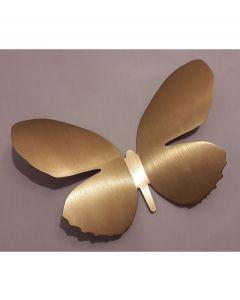 Umbra wanddecoratie vlinder Mariposa metaal - Messing - 103142
