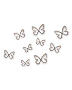 Umbra wanddecoratie set van 8 vlinders Flitterbye nikkel - 106129