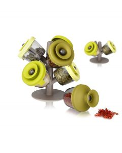 Tomorrow's Kitchen kruidenrekje PopSome met 6 potjes - 106298
