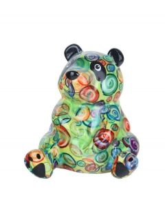 Pomme Pidou spaarpot panda Zsa Zsa - Groen met stippen - 104153