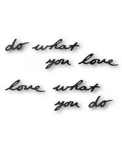 Umbra wanddecoratie tekst Mantra - Zwart - 100322