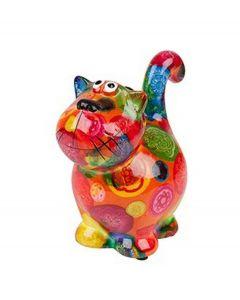 Pomme Pidou brilhouder kat Dorothy - Oranje met gekleurde stippen - 106479
