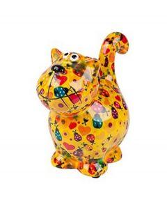 Pomme Pidou brilhouder kat Dorothy - Geel met lieveheersbeestjes - 106480
