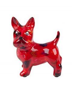 Pomme Pidou brilhouder hond Boomer - Rood met harten - 106490