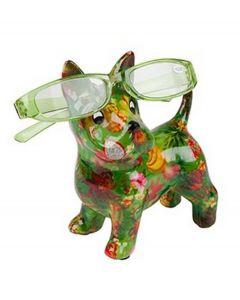Pomme Pidou brilhouder hond Boomer - Groen met tropisch fruit - 106487