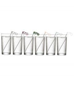 Umbra set van 6 roerstokjes bril Glasses - 106811