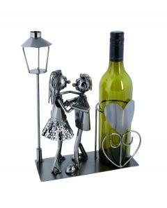 Out of the Blue wijnstandaard metaal dansend paar - 106836