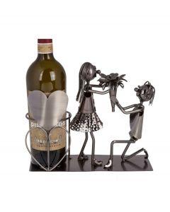 Out of the Blue wijnstandaard metaal liefdes koppel - 106823