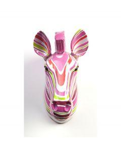 Pomme Pidou Aniwalls dierenkop zebra Ziggy - Gekleurde strepen - 106875