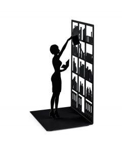 Balvi boekensteun The library zwart metaal - 106945