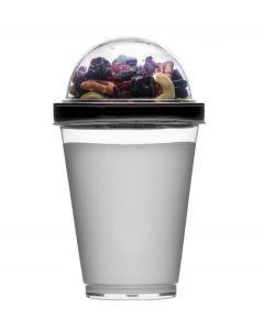 Sagaform Yoghurt meeneem beker Fresh - Zwart - 107098