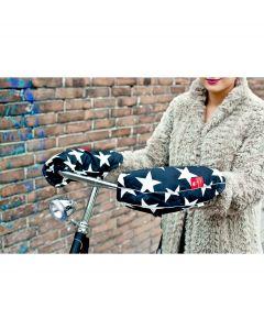 WOBS handwarmers voor op de fiets Bike Pogies - Stars Black & White - 107282