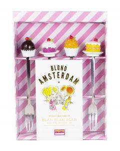 Blond Amsterdam set van 4 gebakvorkjes - Even bijkletsen - 107439