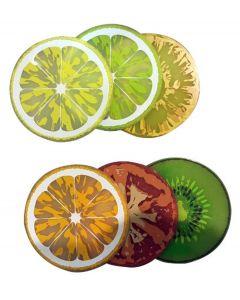 Invotis set van 6 onderzetters Fruit - 107803