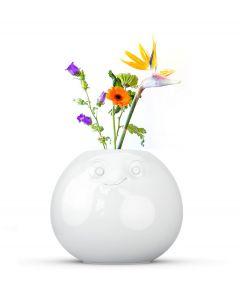 Tassen bloemenvaas rond met geamuseerd gezicht - 92 - 107841