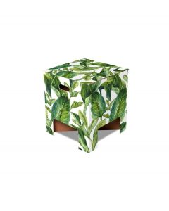 Dutch Design Brand kartonnen krukje - Groene bladeren - Green Leaves - 107949