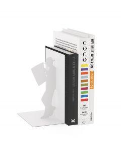 Balvi boekensteun The Reader Wit Metaal - 107956
