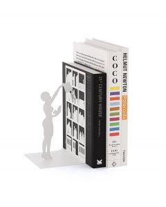Balvi boekensteun The Library Wit Metaal - 107958