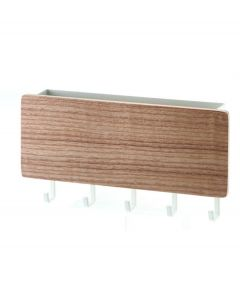 Yamazaki magnetische sleutelhouder met postbakje Rin naturel hout - 107966