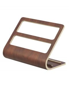 Yamazaki tablet en accessoires houder Rin donker bruin hout - 107980