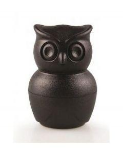 Qualy eierdopje met peper en zoutstel uil Morning Owl zwart