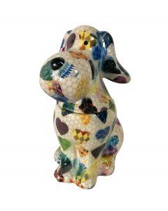 Pomme pidou snoeppot Hond Sweet Toby Wit met harten - 108119