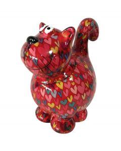 Pomme pidou snoeppot Kat Sweet Dorothy Rood met harten - 108127
