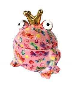 Pomme pidou snoeppot Kikker Sweet Freddy Roze met snoepjes - 108130