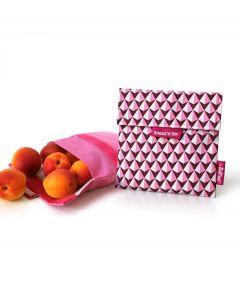 Roll eat herbruikbaar boterhamzakje Snack and Go Tiles Pink - 108206
