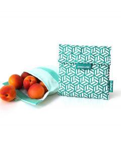 Roll eat herbruikbaar boterhamzakje Snack and Go Tiles Green - 108208