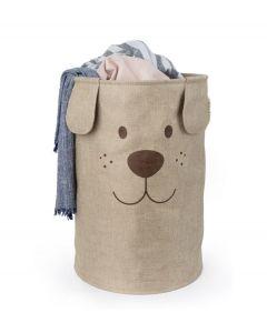 Balvi opvouwbare wasmand hond Woof bruin textiel - 108340