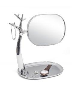 Balvi organizer met spiegel Nature chroom kunstststof - 108337