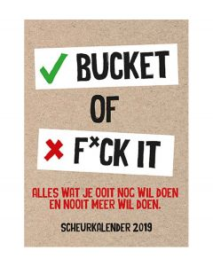 De Lantaarn scheurkalender 2019 - Bucket of Fuck it - 108624
