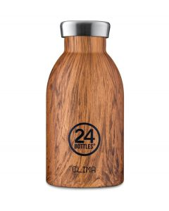 24Bottles Thermosfles Clima Bottle Sequoia Wood 330 ml - 108479