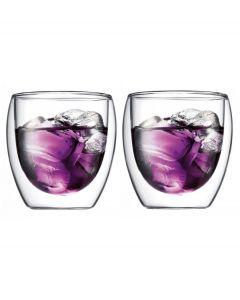 Bodum set van 2 dubbelwandige pavina glazen 0 -25 l transparant - 100136