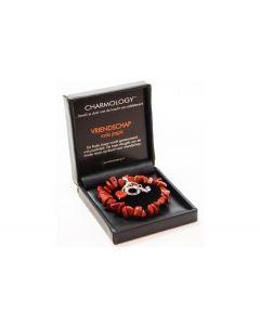Charmology armband Vriendschap rood chunky - 102029
