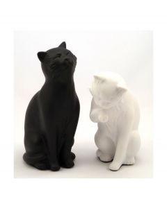 La Chaise Longue set van 2 boekensteunen kat - Zwart - Wit - 102380