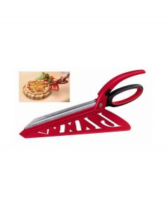Balvi pizza schaar Pizza! rood - 100129