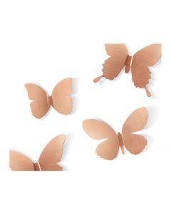 Umbra wanddecoratie vlinder Mariposa metaal - Koper