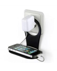 Bobino opvouwbare telefoon houder voor opladen - Zwart - 103166