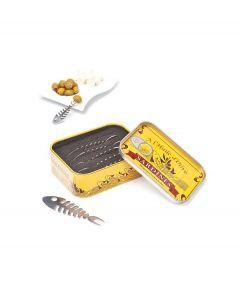 Balvi set van 6 snack vorkjes Sardines - 103523