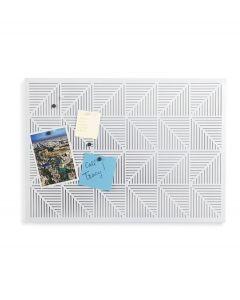 Umbra geperforeerd prikbord van metaal Trigon - Wit - 103769