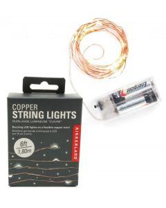 Kikkerland lichtsnoer met led lampjes koper - 104305