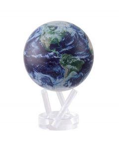 Mova wereldbol op zonne energie Ø 15 cm - Satellietopname met wolken (STE-C) - 104614