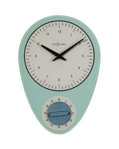Nextime wandklok met timer Hans glas - Blauw - 105100