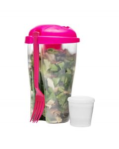 Sagaform Salade meeneem beker To Go - Roze - 105220