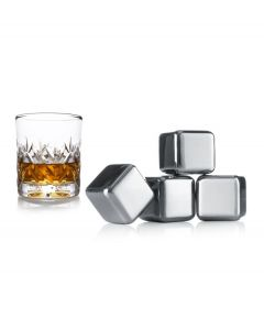 Vacuvin set van 4 RVS whiskey stenen - 105261